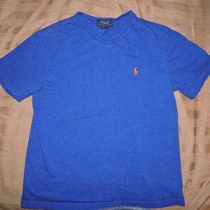 Boys Polo Ralph Lauren V-Neck T-shirt M 10-12